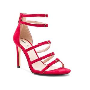 Raye x NBD x REVOLVE Hunter Heel in Deep Red